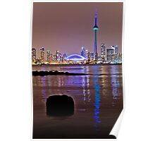 Toronto from island nite 2 Poster