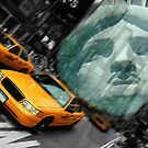 new york cityscape skyline landmark taxi times square statue l by Noel Moore Up The Banner Photography