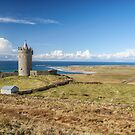 Doonagore Castle, overlooking Doolin and the Atlantic Ocean by Noel Moore Up The Banner Photography