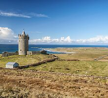 Doonagore Castle, overlooking Doolin and the Atlantic Ocean by upthebanner