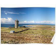 Doonagore Castle, overlooking Doolin and the Atlantic Ocean Poster
