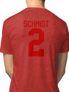 Kendall Schmidt jersey - red text Tri-blend T-Shirt