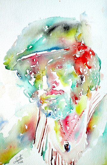 BRUCE SPRINGSTEEN - watercolor portrait by lautir