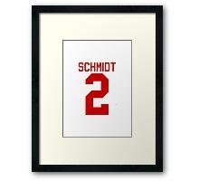 Kendall Schmidt jersey - red text Framed Print