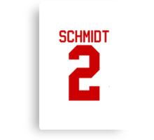 Kendall Schmidt jersey - red text Canvas Print
