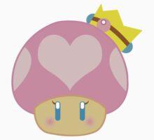 Princess Peach 1UP Mushroom  by Berri-Blossom
