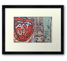 ACT UP! Framed Print