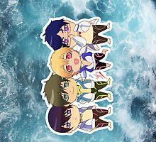 Free! group iphone by yoriuku