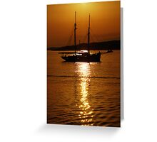Schooner Gold Greeting Card