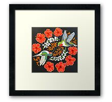 Hummingbird Mandala Framed Print