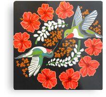 Hummingbird Mandala Metal Print
