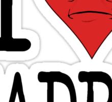 I LOVE DEADPAN  Sticker