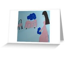 The Blue Hydrangea  Greeting Card