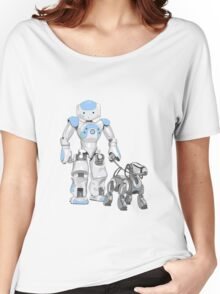 The Dog Walker. (Blue) Women's Relaxed Fit T-Shirt