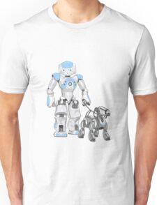 The Dog Walker. (Blue) Unisex T-Shirt