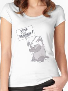 BADGER CULL PROTEST Women's Fitted Scoop T-Shirt