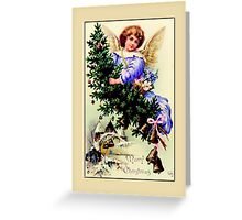 Holiday Greeting-Angel with Tree Greeting Card