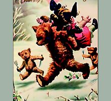 Holiday Greeting-Teddy Bears by Yesteryears