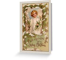 Holiday Greeting-Angel with Lilies Greeting Card