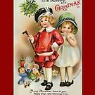 Holiday Greeting-Girl and Boy by Yesteryears
