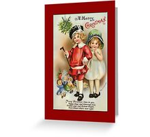 Holiday Greeting-Girl and Boy Greeting Card
