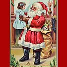 Holiday Greeting-Santa and Doll by Yesteryears