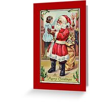 Holiday Greeting-Santa and Doll Greeting Card