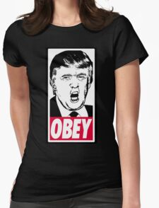 Trump - Obey Womens Fitted T-Shirt
