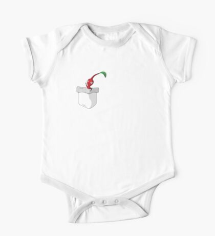 Red Pikmin in your Pocket! One Piece - Short Sleeve