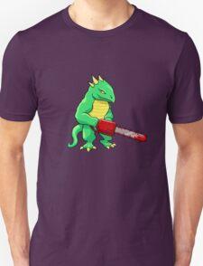 LIZARD MAN WITH CHAINSAW Unisex T-Shirt