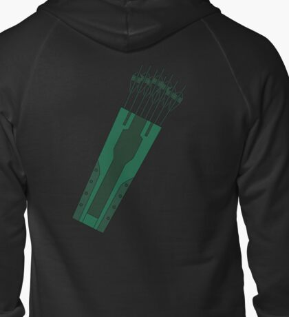 Green Arrow Zipped Hoodie