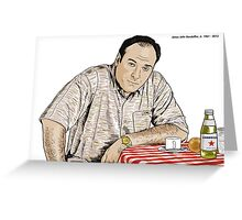 JAMES GANDOLFINI B'UON ANIMA Greeting Card