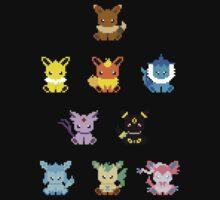 Eeveevolution - pixel art Kids Clothes