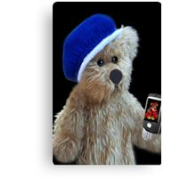 ❀◕‿◕❀TEDDY BEAR'S CELL PHONE.. SHOWING OFF HIS LITTLE GIRL FRIEND AW..❀◕‿◕❀ Canvas Print