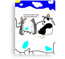 penguins and pandas Canvas Print