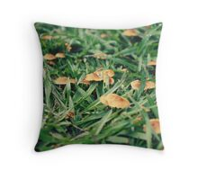 A Scene of Whimsy in the Backyard Throw Pillow