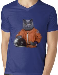 Astrocat Mens V-Neck T-Shirt