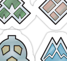 The Sinnoh Gym Badges Sticker