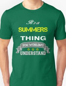 SUMMERS It's thing you wouldn't understand !! - T Shirt, Hoodie, Hoodies, Year, Birthday T-Shirt