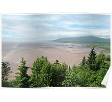 Bay of Fundy Mud Flats, Low Tide Poster