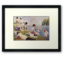 Clockwork Orange Seurat Mashup Framed Print