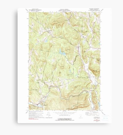 USGS Topo Map  Vermont VT Cavendish 337360 1972 24000 Canvas Print