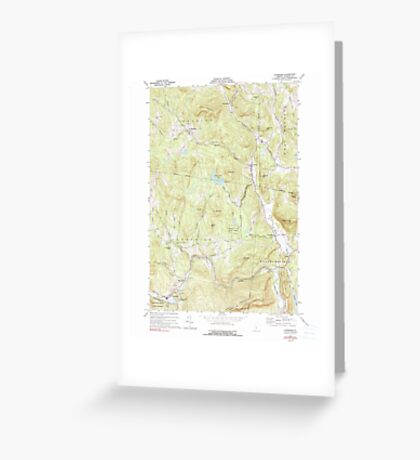 USGS Topo Map  Vermont VT Cavendish 337360 1972 24000 Greeting Card