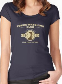 Tessie Watching Club Member Tee Women's Fitted Scoop T-Shirt