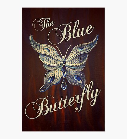 The Blue Butterfly Photographic Print