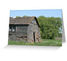 Abandoned Barn Collapsing Greeting Card