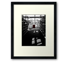 Chair of knowledge Framed Print