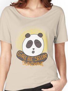 Girl be sellin' sunshine - Panda's song ( We Bare Bears ) Women's Relaxed Fit T-Shirt