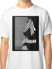 """""""blinded"""" Noir Nude. Photo turned stencil painting. Classic T-Shirt"""