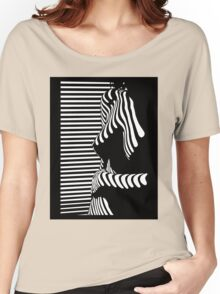"""""""blinded"""" Noir Nude. Photo turned stencil painting. Women's Relaxed Fit T-Shirt"""